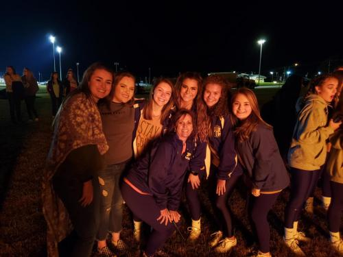 Student Council Enjoys the Homecoming Bonfire