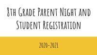 8th Grade Registration
