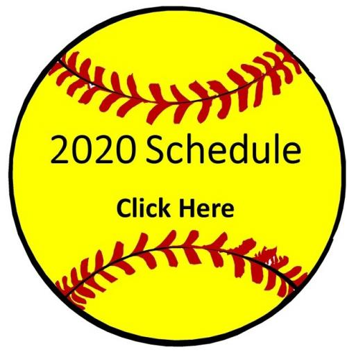 Softball picture with words 2020 Schedule