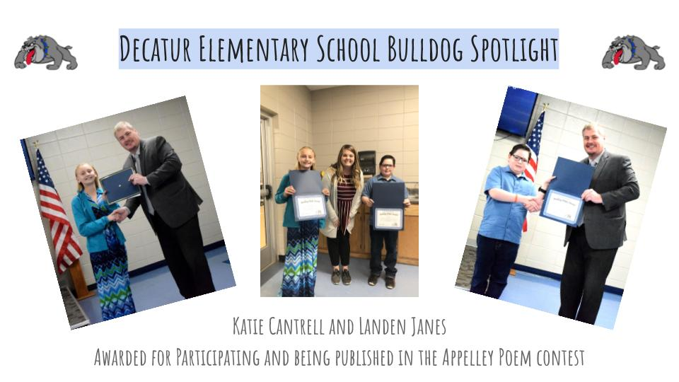 Elementary Bulldog Spotlight: Bulldog Pride Award Winners!