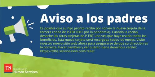 P-EBT Info; Spanish