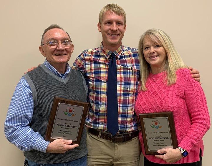 2109-2020 Heart of the Program winners Mr. Johnny Stewart and Mrs. Vicki Thornburg