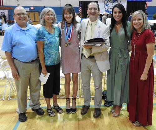Principal Jeff Gilbert and family