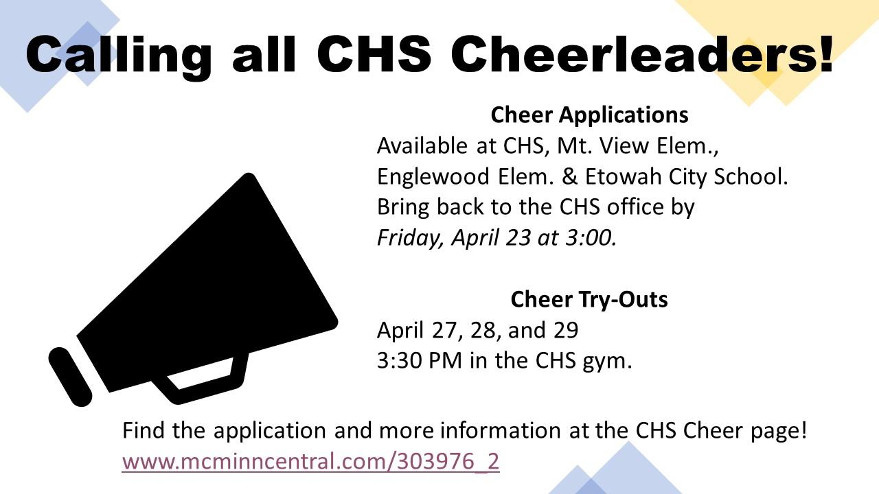 Calling All Cheerleaders!
