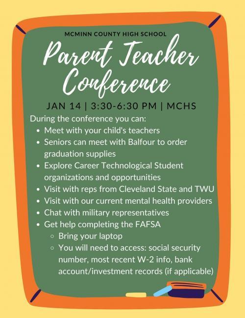 Parent Teacher Conferences 1-14-2021