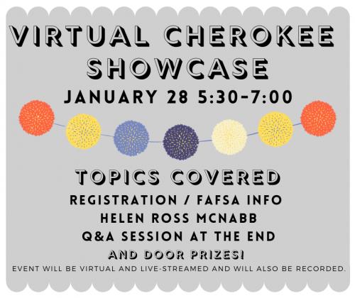 Virtual Cherokee Showcase 1-28-2021