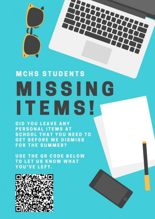 Students missing items