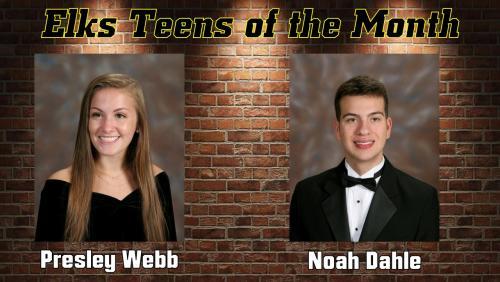 Elks Teens of the Month