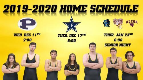Home Wrestling Schedule