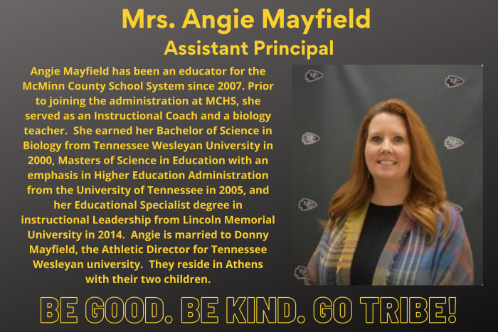 Angie Mayfield Assistant Principal