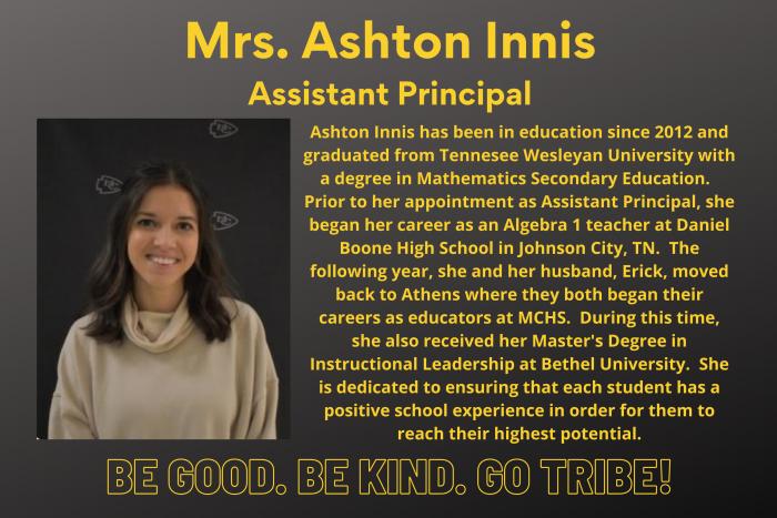 Ashton Innis Assistant Principal