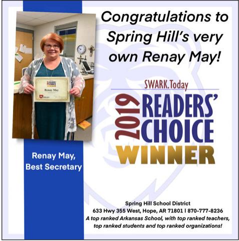 Best Secretary - Mrs. Renay May!