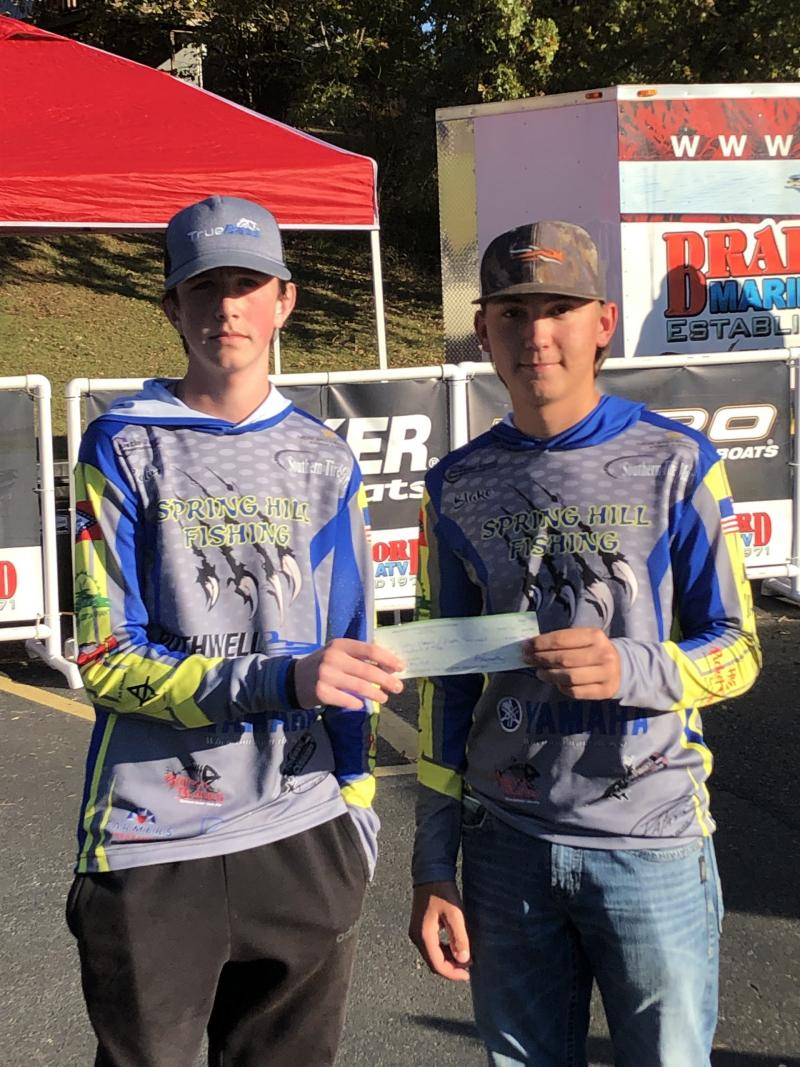 SH Fishing Teams Take 1st Place in Four States Classic Bass Tournament