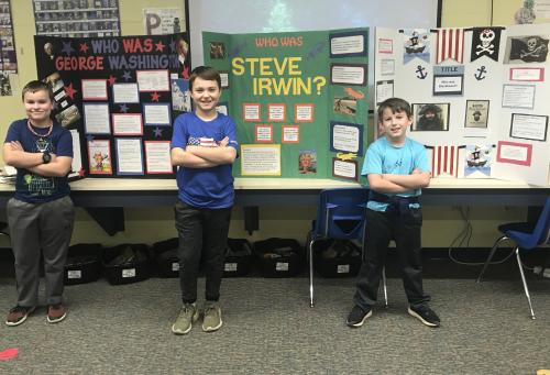 4th Grade Reading Fair Winners