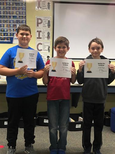 Spelling Bee Winners 5th Grade