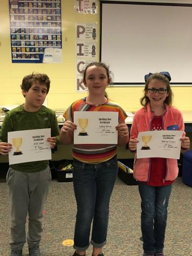 Spelling Bee Winners 4th Grade