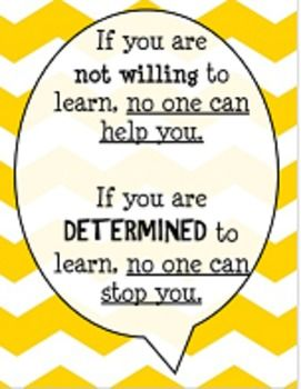 thought bubble with chevron learning quote