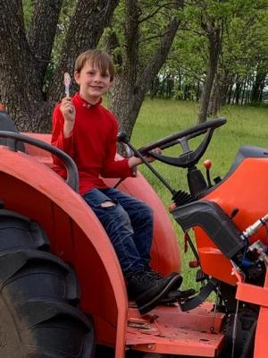 I hope you are a good tractor driver Logan!