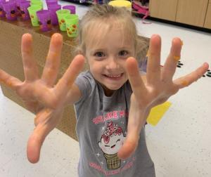 Ooey, gooey hands-on PUMPKIN learning fun.