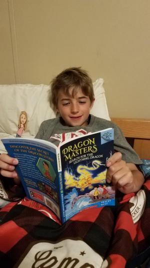 Thanks for reading to me Eli! I love dragon books too!