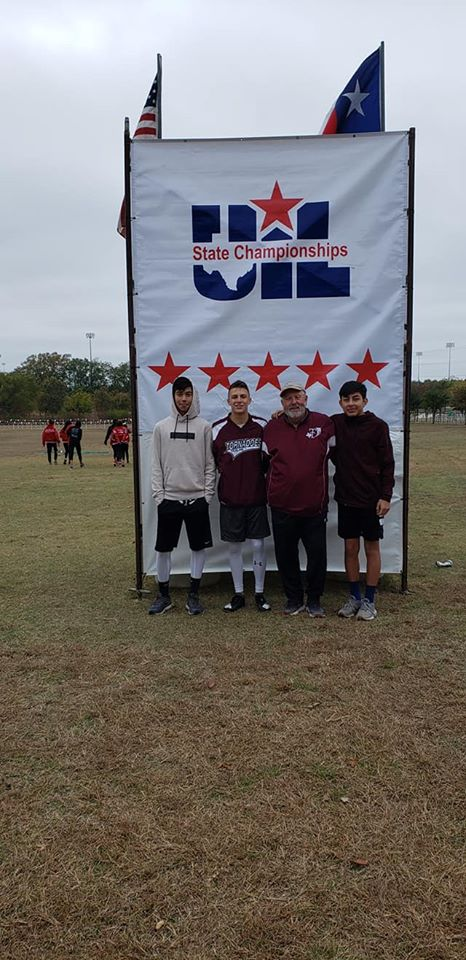 Eduard, Stratton, Coach Prescott, and Angel ready to take on the state championships