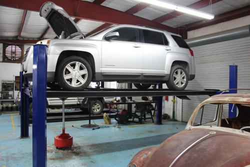 Automotive Shop working on car