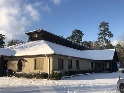 family life center with large icicles