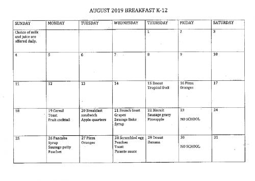 August Breakfast