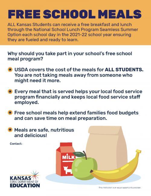 Free School Meal Flyer