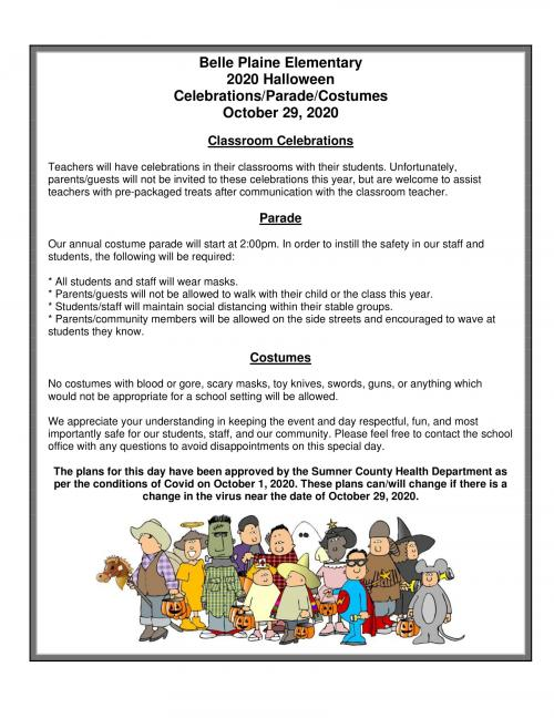 BPES 2020 Halloween Celebrations/Parade/Costumes Oct 29, 2020