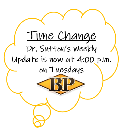 Time Change for Weekly UPdate