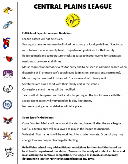 Central Plains Covid Sports Guidelines