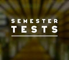 Semester Test Dates for middle school