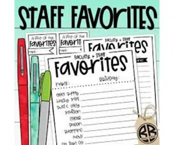 Staff Favorites Lists