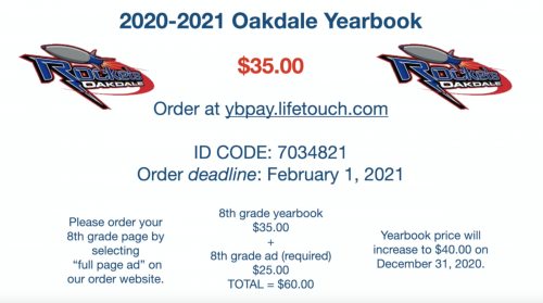 yearbook pricing