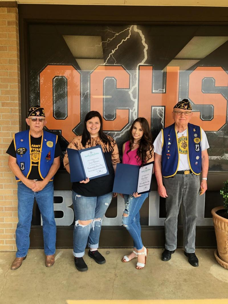 American Legion Recognizes QCHS Students