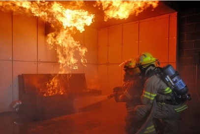 Firefighter Live Burn Picture