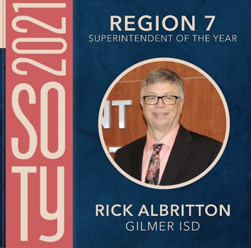 Rick Albritton Superintendent of the Year