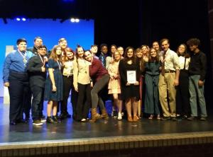 2020 HS One Act Play Crew - District Champs for their work on