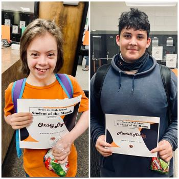 Congratulations To Our April Students Of The Month!!