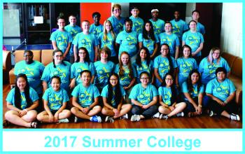 2017 Summer College group picture