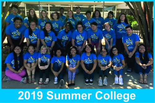 2019 Summer College Attendees