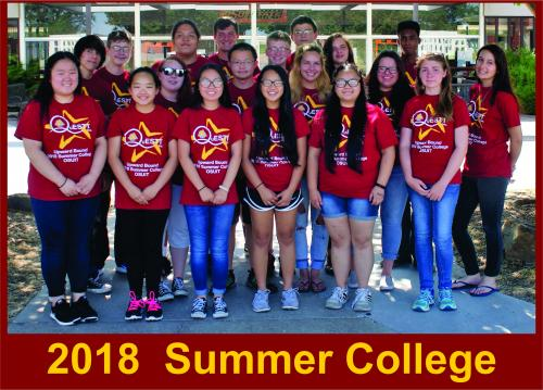 2018 Summer College Students