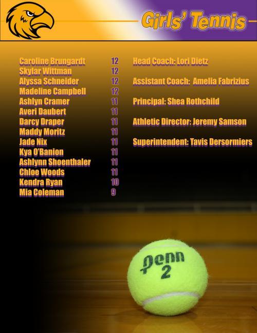 Girls' Tennis Roster