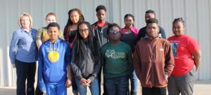 Devin Conway, Naomi Evans, Kejuan Hendrix, Alyssa Melson, Tracee Sims, Jalexysa Smith, Vonderek Stewart, Ty Thomas Napolen Walker, Lashanti Witherspoon.  Mrs. Cassidy's 2nd Period English class were the winner of Achieve 3000 Read to Suuceed Contest. T