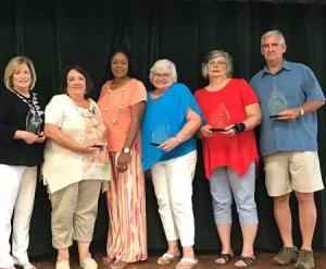 All of the 2017-2018 Retirees with Ms. Forte the Superintendent. All were honored with a Fish Fry Luncheon, A Plaque and a Rocking Chair to enjoy in their retirement.