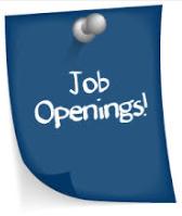 Seeking applicants for job openings.