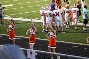 Cheerleaders at Mart 8/28/2020