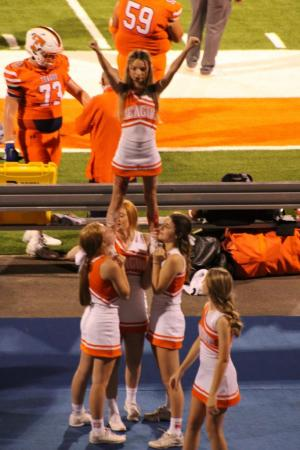 Cheerleaders at Lions vs. Madisonville 9/10/21