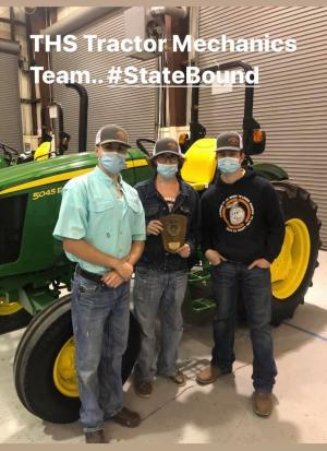 THS Tractor Mechanics Team 2020-21